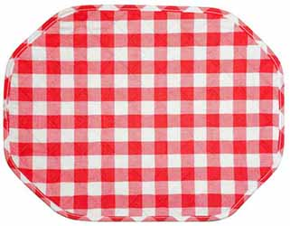 gingham red placemat