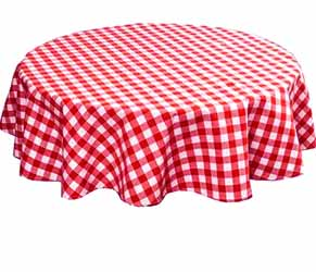 gingham  red tablecloth