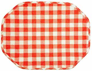 gingham terracotta placemat