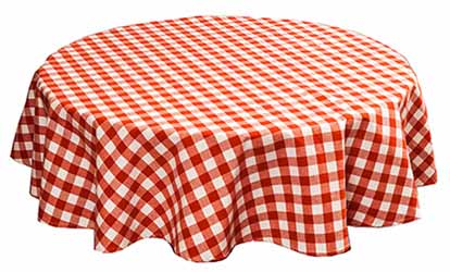 gingham country check terracotta tablecloth
