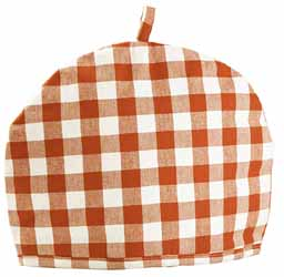 gingham check tea cosy