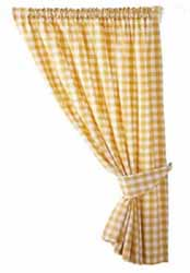 gingham yellow curtains