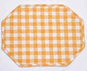 gingham yellow place mat