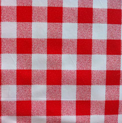 red and white gingham pvc tablecloth