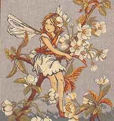 apple blossom fairy cushion cover