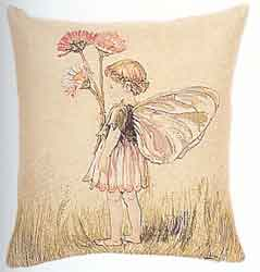 daisy fairy tapestry cushion