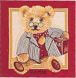 teddy bear bertie tapestry cushion cover
