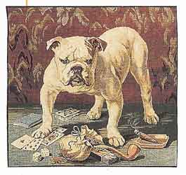 british bulldog tapestry cushion cover
