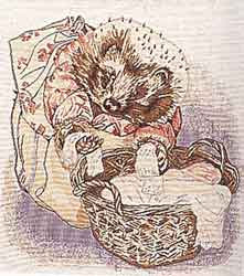 mrs tiggywinkle tapestry cushion