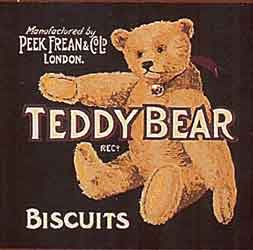 peeks freans biscuit tin bear