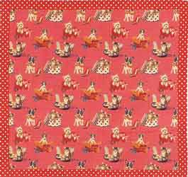 pink throw or tablecloth kittens and puppies flemish tapestry