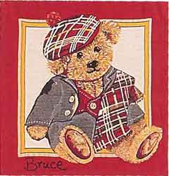 teddy bear bruce tapestry cushion cover