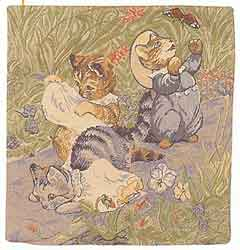 beatrix potter tom kitten tapestry cushion cover