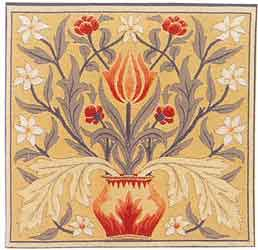 william morris tulip tapestry cushion