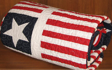 princeton stars & stripes patchwork throw