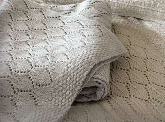 helmsley knitted lace throw