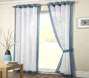 mayfair teal voile curtain