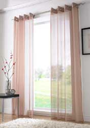 coffee voile eyelet curtain