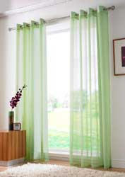 lime voile eyelet curtain