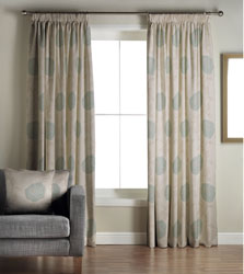 alison teal ready made curtains
