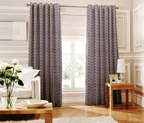 loretta denim eyelet curtain