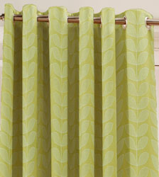 loretta lime closeup eyelet curtains