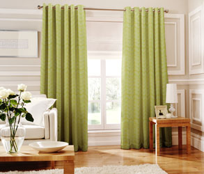 loretta lime eyelet curtains
