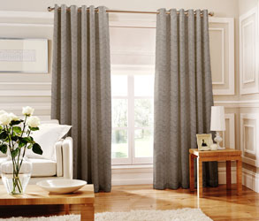 loretta silver eyelet curtains