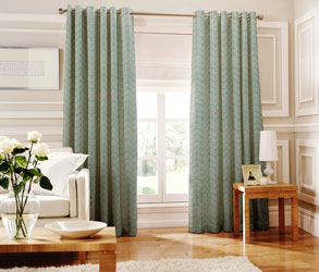 loretta teal eyelet curtains
