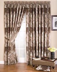 lucille taupe pencil pleat curtains
